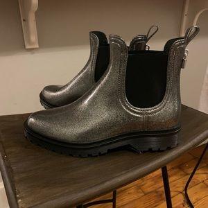 Silver Rain Boots - Michael Kors